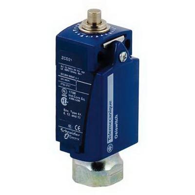 Schneider Electric / Square D XCKD2110N12 OsiSense® Limit Switch; 10 Amp, 240 Volt AC, 250 Volt DC, 1 NO/1 NC, Metal Rod Plunger Actuator