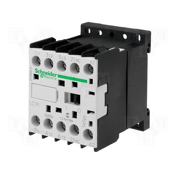 Schneider Electric / Square D LC1K0610M7 TeSys K Non-Reversing Contactor 3 Pole  6 Amp  220 – 230 Volt Coil