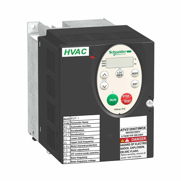 """""Schneider Electric / Square D ATV212H075N4 Altivar 212 Variable Torque Speed AC Drive 2.2 Amp, 3 Phase, 1 hp,"""""" 112238"