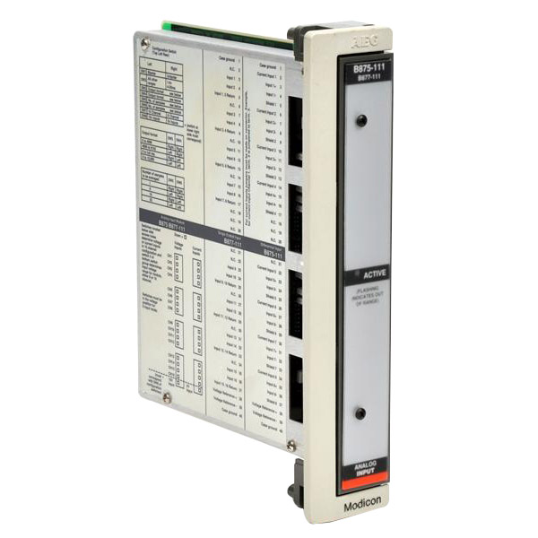 Schneider Electric / Square D ASB875111 8/16 Point Analog Input Module -10 – 10 Volt DC/-5 – 5 Volt DC/0 – 5 Volt DC/1 – 5 Volt DC/0 – 10 Volt DC