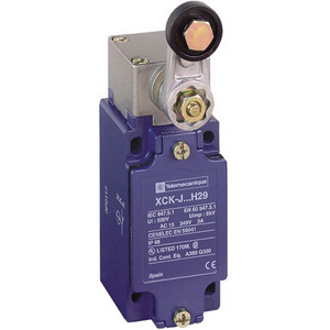 Schneider Electric / Square D XCKJ10513H29 OsiSense Limit Switch 300/500 Volt- 1 NO/1 NC- 30 Degree Cam/Rotary Head/Spring Return Roller Lever Actuator-
