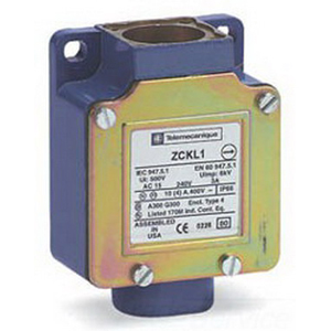 Schneider Electric / Square D ZCKL1 OsiSense® Limit Switch Body; 0.27 Amp at 250 Volt, 3 Amp at 240 Volt, AC-15, 1 NO/1 NC, Screw Clamp Terminal, Metal