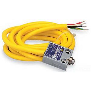 Schneider Electric / Square D 9007MS01S0200 Limit Switch; 10 Amp, 240 Volt AC, 28 Volt DC, 1 NC/1 NO, SPDT, On End/Spring Return Plunger Actuator