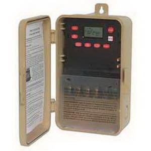 NSI EW103B Tork® EW Series 1 or 2 Channel On-Off Digital Time Switch; 40 Amp, 120/277 Volt, 50/60 Hz, 2-Pole, Plastic, Tan