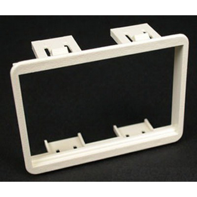 Wiremold / Walker CM-MAB-BK 6 Amp Mini Mounting Adapter; 2-5/16 Inch Width x 3-1/16 Inch Height, Plastic, Flush Mount