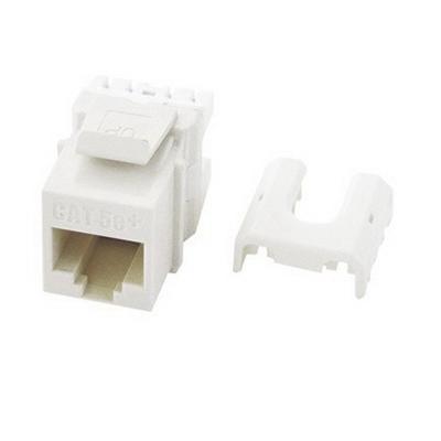 On-Q WP3475-WH-50 Category 5e RJ45 QC Keystone Insert ; Female, 8P8C, White