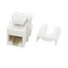 On-Q WP3475-WH-50 Category 5e RJ45 QC Keystone Insert ; Female, 8P8C, White
