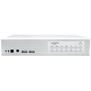 Luxon LIN116M2401TB Hybrid Recorder; 12 Volt AC, 16 Channel, 352 x 240 (CIF)/720 x 240 (Half-D1)/720 x 480 (D1) NTSC/352 x 288 (CIF)/720 x 288 (Half-D1)/720 x 576 (D1) PAL Resolution