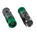 ICM FSNS6U-R ProSNS™ Snap-N-Seal® Universal F-Type Connector; RG-6, Nickel Tin-Plated, Green