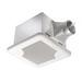Delta SIG110 BreezSignature Bath Fan; 12.7/15.6 Watt, 120 Volt, 0.38 Amp, 60 Hz, 4 Inch Duct, Ceiling Mount, 110 cfm At 0.1 Inch/96 cfm At 0.25 Inch, Less Than 0.3 Sones At 0.1 Inch/1.2 Sones At 0.25 Inch, Square