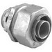 Bridgeport 438-LTI2 Straight Liquidtight Connector; 3-1/2 Inch, Die-Cast Zinc, Ball Burnished, Mirror Smooth