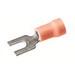 Hubbell Electrical / Burndy TP1610F VINYLUG™ Fork Terminal; 22-16 AWG, #3 - #6 Stud, 600 Volt, Copper, Red