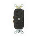 Leviton 4703-IIR Locking Duplex Receptacle; 125 Volt, 10-18 AWG, 15 Amp, 2-Pole, Nylon, Black