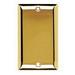 Pass & Seymour SB13-PB 1-Gang Standard Size Blank Plate; Polished Brass, Box Mount