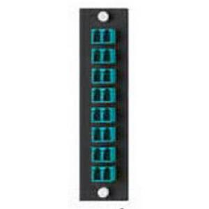 Leviton 5F100-16A Opt-X Fiber Adapter Plate Multi Mode  16-Fiber  4.940 Inch Width x 0.060 Inch Depth x 1.250 Inch Height  Aqua