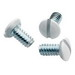 Pass & Seymour 510-W Milled Slot Oval Head Standard and Interchangeable Wall Plate Screw; #6-32, 1/2 Inch Length
