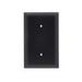 Pass & Seymour TP14-BK 1-Gang Blank Wallplate; (1) Blank, Strap Mount, Nylon, Black