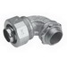 Midwest LTB7590GC Liquidator™ 90 Degree Liquidtight Conduit Connector With Copper Grounding Lug; 3/4 Inch, Threaded, Malleable Iron, Electro-Plated Zinc
