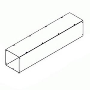 Hammond CWSC624NK Straight Section Wireway; 14/16 Gauge Steel, ANSI 61 Gray