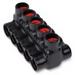 Blackburn / Elastimold AMTD10145 AMT Multi-Port Connector; 1/0 - 14 AWG, 5 Ports, Aluminum, 600 Volt, Black