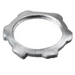 Hubbell Wiring 00322001LPK50 Kellems Wire Management Locknut 1/2 Inch  NPT  Steel  Zinc-Plated