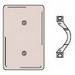 Hubbell Wiring NP14 Bryant® 1-Gang Blank Wallplate; (1) Blank, Box/Strap Mount, Nylon, Smooth, Brown