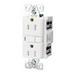 Cooper Wiring TRVGF15LA Arrow Hart™ Tamper Resistant Straight Blade GFCI Duplex Receptacle; 15 Amp, 125 Volt AC, 2-Pole, 3-Wire, NEMA 5-15R NEMA, Light Almond