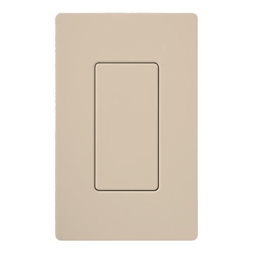 Lutron SC-BI-TP Claro® Blank Wallplate Insert; Wall Mount, Plastic, Satin, Taupe