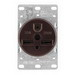 Cooper Wiring 5700N Arrow Hart™ Straight Blade Power Receptacle; 2-Pole, 3-Wire, 30 Amp, 250 Volt, NEMA 6-30R NEMA, Flush Mount, Lay-In Terminal, Black