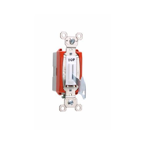 Pass & Seymour PS20AC1-WL Key Locking Switch; 1-Pole, 120/277 Volt AC, 20 Amp, White