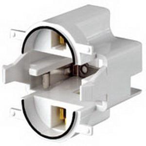 Leviton 26720-300 Compact Fluorescent Lampholder; 600 Volt, 75 Watt, GX23 Base, Black