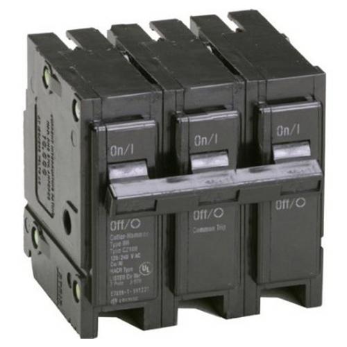 Eaton / Cutler Hammer BR335 Molded Case Circuit Breaker; 35 Amp, 240 Volt, 3-Pole, Plug-On Mount