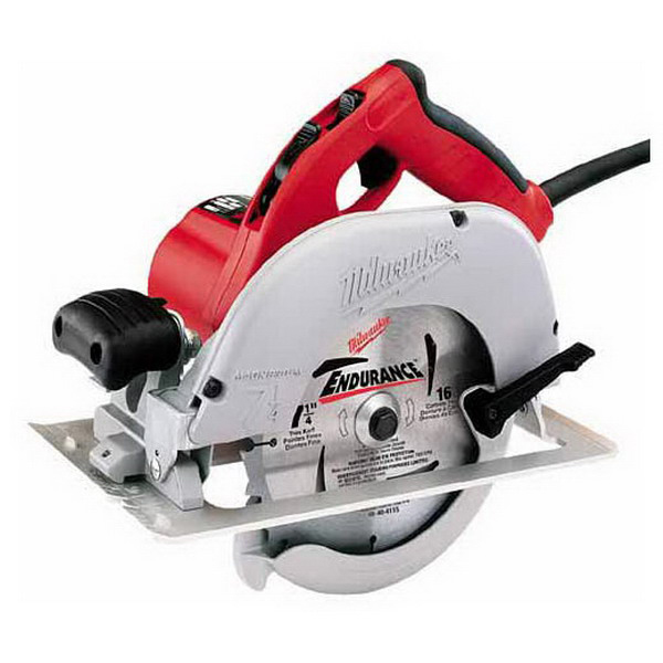 Milwaukee Tools 6391-21 Left Blade Circular Saw 120 Volt AC/DC, 13-3/4 Inch Overall Length, 5/8 Inch, 7-1/4 Inch, 5800 RPM, Left Blade Circular Saw with Case, Blade Wrench, Circular Saw Blade,