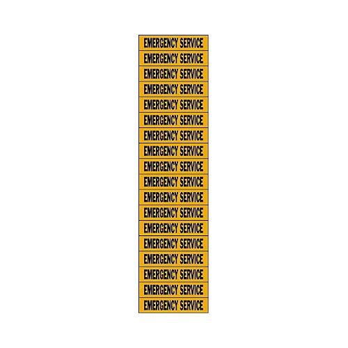 Brady 44328 Conduit & Voltage Marker; 2-1/4 Inch Width x 1/2 Inch Height, Black/Orange