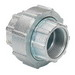 Bridgeport 1121-RT Mighty-Align® Conduit Coupling; 1/2 Inch, Malleable Iron, Electro-Zinc-Plated