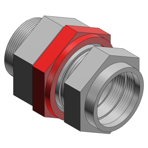 Thomas & Betts STX100-468 Star Teck XP Jacketed Metal-Clad Cable Fitting 1 Inch  NPT  1.025 – 1.205 Inch Jacket  0.915 – 1.125 Inch Armor  Aluminum