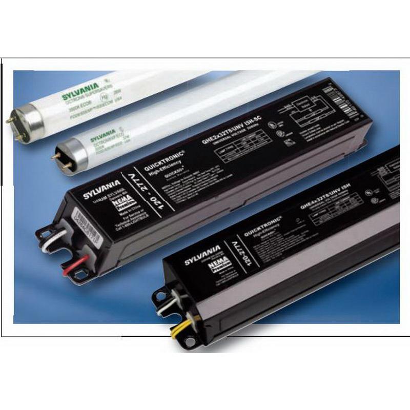 Sylvania QHE-3X32T8/UNV-ISH-HT-SC Quicktronic® Fluorescent Ballast; 120 - 277 Volt AC, 32 Watt, 3-Lamp, Instant Start