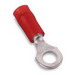 Thomas & Betts RA863 Sta-Kon® Ring Terminal; 22 - 16 AWG, #8 Stud, 1 Hole, 600 Volt, Copper, Red