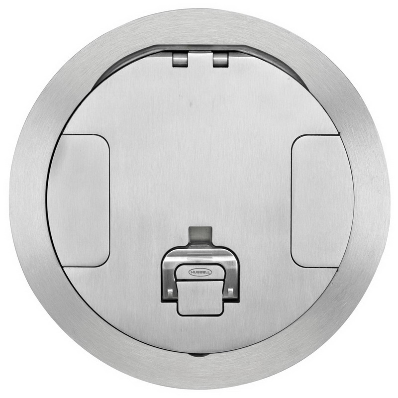 Hubbell Wiring S1R8CVRALU Scrubshield® Recessed Cover; Composite