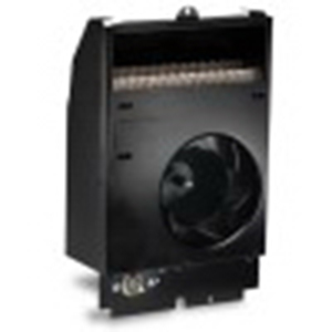 Cadet CS108T Com-Pak Fan Forced Electric Wall Heater Assembly With Thermostat 208 Volt, 1000 watt, Wall Mount, Nichrome Wire Heating Element, 20 Gauge Metal Grille and Wall Can, Black, Powder Coat Painted,