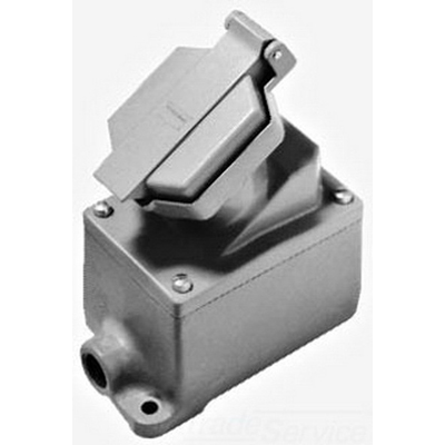 Cooper Crouse-Hinds ENR21201-M4 ArkGard® Single Gang Receptacle Assembly; 20 Amp, 125 Volt, NEMA 3, 3R