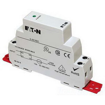 Eaton / Cutler Hammer D96210ACZ2 D96 Series Solid State Relay; 3 - 32 Volt DC Input, 24 - 280 Volt AC Output, 10 Amp, DIN Rail/Panel Mount