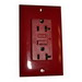 Hubbell Wiring GF20LABULK Circuit Guard® Decorator GFCI Duplex Receptacle; 20 Amp, 125 Volt AC, 2-Pole, 3-Wire, NEMA 5-20R NEMA, Flush Mount, Brown
