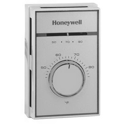 Honeywell T451A3005 Thermostat; 120 - 277 Volt AC, 19 Amp, 50/60 Hz, Flying Connection, Champagne Gold