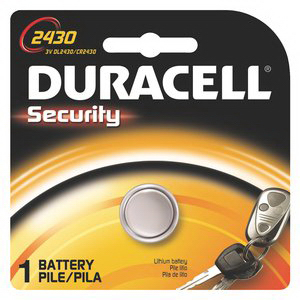 Duracell DL2430BPK Lithium Battery; 3 Volt, 285 Milli Amp-Hour
