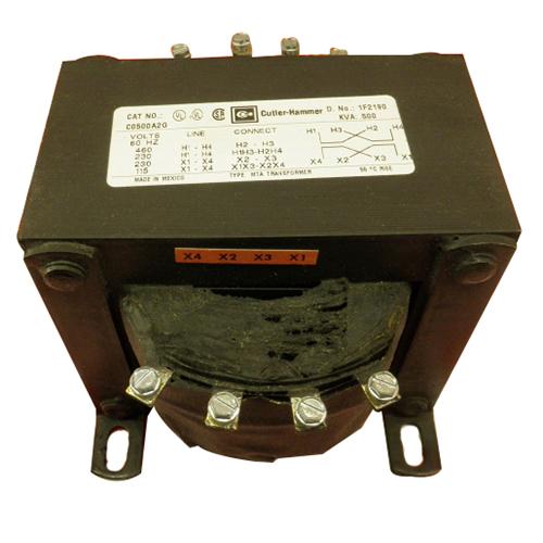 Eaton / Cutler Hammer C0500A2G Industrial Control Transformer 230/460 Volt Primary  115/230 Volt Secondary  500 VA  1-Phase