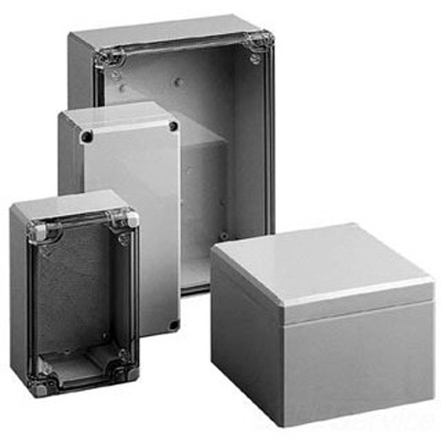Hoffman Q889PCD QLINE™ D Enclosure; Polycarbonate, Gray, Wall Mount, Foam Gasketed, Screw On Cover