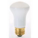 Satco S4702 R16 Flood Light Bulb; 40 Watt, 120 Volt, Medium (E26) Base, 1500 Hour Life, Frost