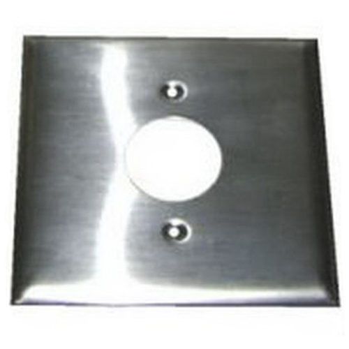 hubbell wiring s747 2 gang duplex receptacle wallplate 1 single hubbell wiring s747 2 gang duplex receptacle wallplate 1 single receptacle stainless steel smooth