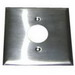 Hubbell Wiring S747 2-Gang Duplex Receptacle Wallplate; (1) Single Receptacle, Stainless Steel, Smooth